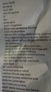 Teks Puisi yang dibacakan oleh Akib Sekwan DPRD Kota Tanjungpinang