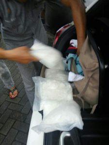 Narkoba jenis Sabu - sabu yang berhasil dikeluarkan dari tas pelaku
