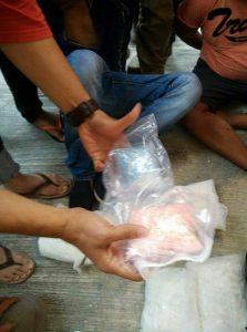 Barang bukti obat - obatan terlarang yang berhasil diringkus oleh Polres Bintan